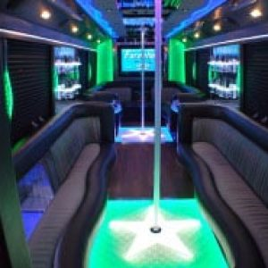 Ann Arbor Party Bus Rental Titan Interior