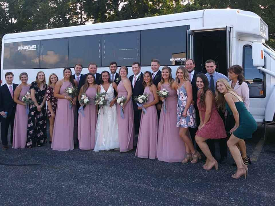 Ann Arbor Wedding Party Bus Rental
